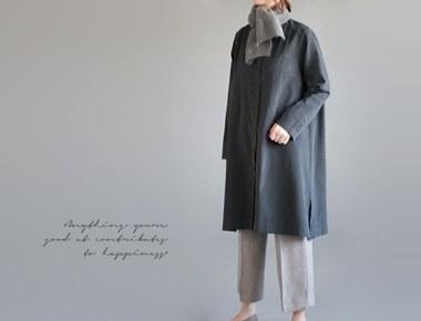 [当天发货] proen衬衫连衣裙 -  meoksaek周门宽缝周,细节很不错〜