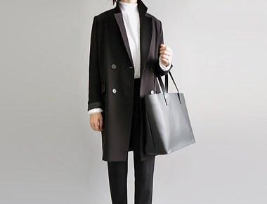 [当天发货]修复了量身定制的西装领型外套(黑)季节进货订单拥堵大小S,M可选