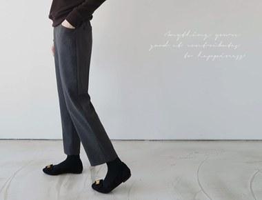 ATSO的黑色休闲裤颜色加!〜坑是真的很漂亮门宽周复一周冬天重新排序