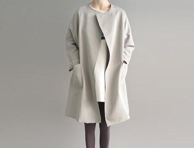 [装运节]软木肥大呢子大衣 - 开放卡其顺序拥塞季节股票尺寸F,L可以被选择