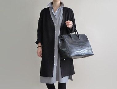 [RANDOM出售] [当日发货]布里格斯长款大衣 - 黑色放养季节