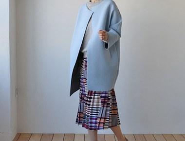 [当天发货]马塞尔呢子大衣 - 索拉是一个很好的感觉新物料计划:)