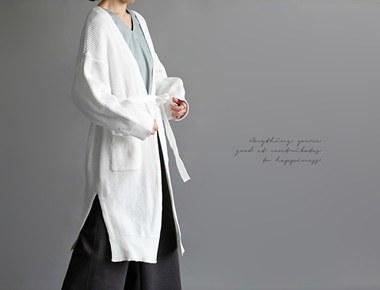 腰带长款开衫 -  2C