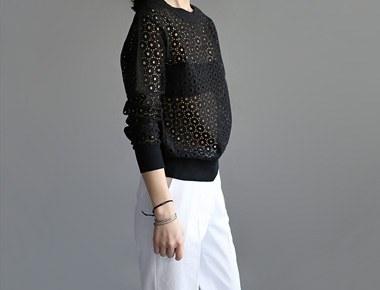 [当天发货]蕾丝运动衫 -  2C周门宽周