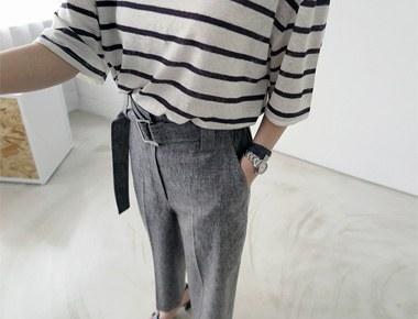 [出厂日]腰带亚麻短裤