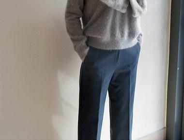 Peurinsep宽松长裤 -  2c的接合到内侧较厚冬 -