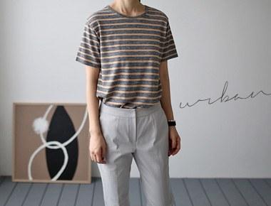 [当天发货]德条纹T恤
