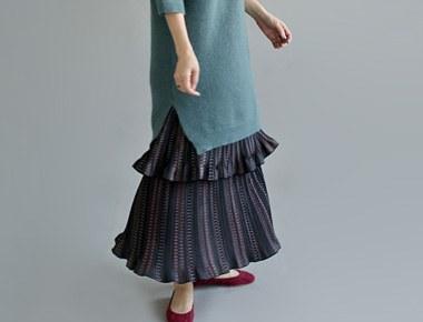 [当天发货] N.打印荷叶裙裙子