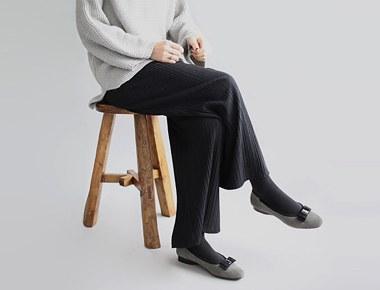 [当天发货]我褶宽裤 -  2C豪华的用料