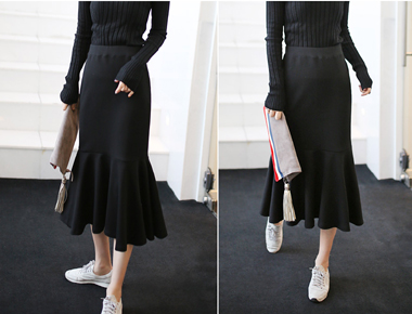 [当天发货]る。美人鱼裙子 -  2C密度,高品质的材料一路~~海军色加仅夏季,除了三个赛季,直到春天!