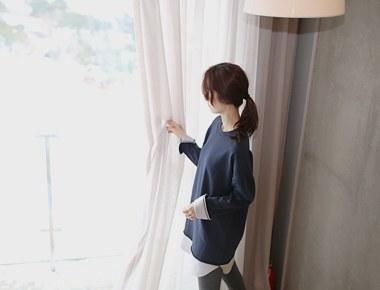 [当天发货]衬衫配色长MTM  -  2C