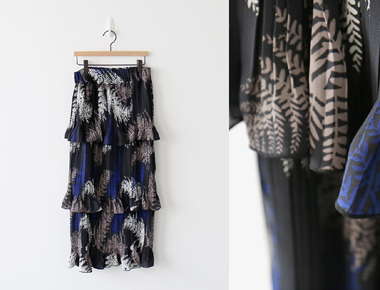 [当天发货]萨卡荷叶裙裙子