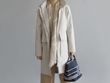 [当天发货]场图像Veneta的外套 - 浅米色的细节相比于良好的价格^^时尚与奢华穿长seureowoomyeonseo的设计优势^^