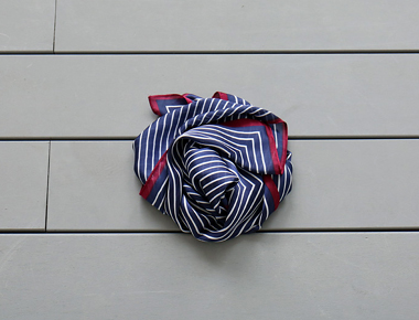 [当天发货]色调条纹围巾 -  2C