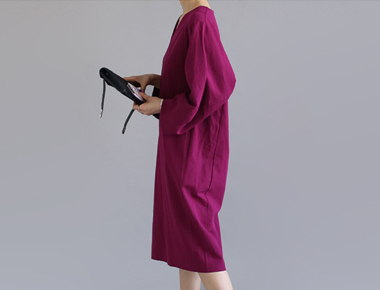 [当天发货]雷内亚麻连衣裙