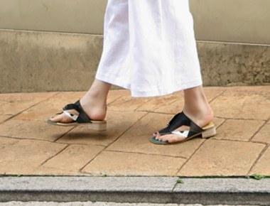 #笔拖鞋凉鞋真正的牛皮,手工皮鞋 - 制作周