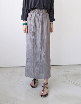 Pleats rossi long skirt