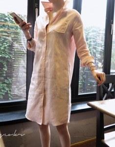 克洛艾·隆恩亚麻南总统连衣裙 -  2C周门宽周本赛季的第17届进货订货