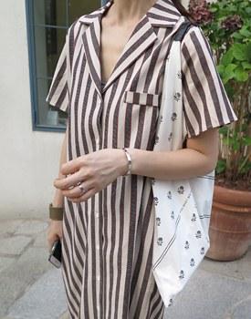 Linen shirts long onepiece