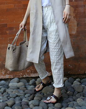 Dobby stripe slacks - 2c