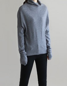Soft Wool knitted top - black