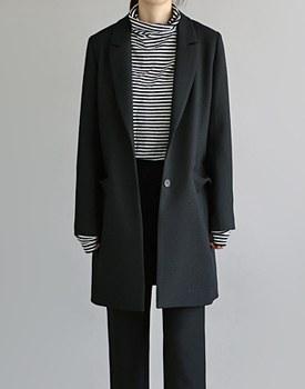 [RANDOM出售] [当日发货] jyagadeu两扣长外套 - 黑