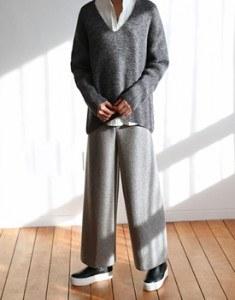 PREND knit wide pants  -  5 colors