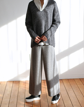 PREND knit wide pants  -  5 colors