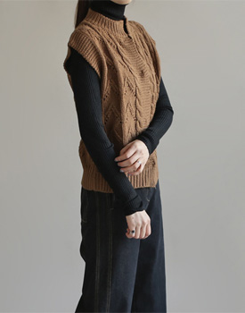 van knit vest - 3c
