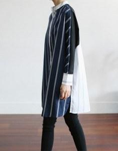 Ben match color long shirt