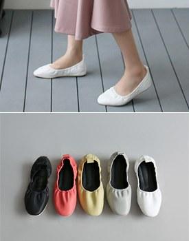 松紧带平底鞋 -  5C容易大小