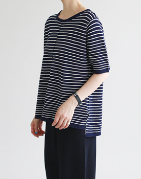 LIP stripe knit top - 3 colors