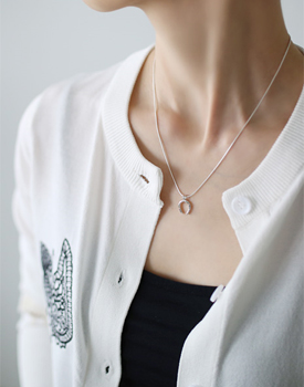 N Silver Necklace