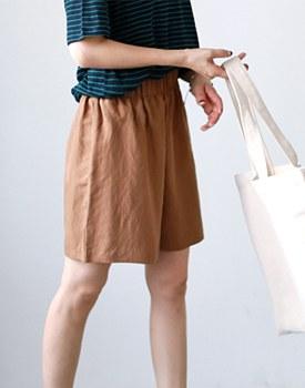 Self-Linen Pants - 3c