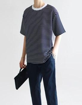 A. stripe two-tone top - 2c