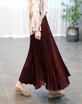 Juliet Pleats Long Skirt - 2c