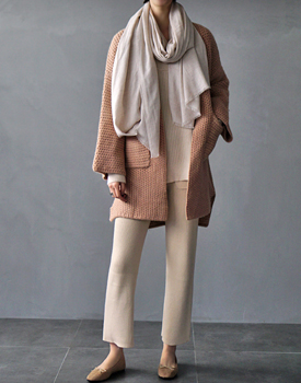 Front pocket knit pants - 3 colors