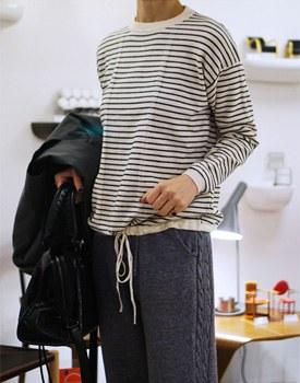Low stripe knit top - 2 colors