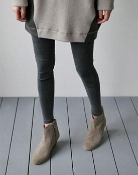 Dikeo短靴 -  4C时尚的靴子马江的风格〜这么热!墨色颜色加