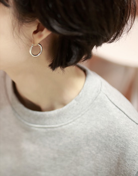 Ecole silver ring-earring