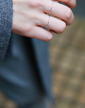 Silver layered ring