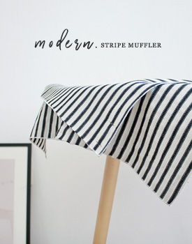 Stripe double muffler - 2c