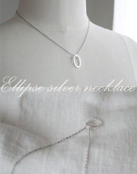 Ellipse silver necklace