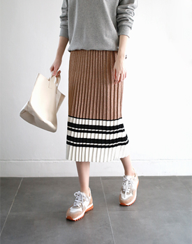 Miu pleats knit skirt - 3c