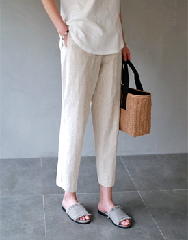 Plug linen pants - 2c