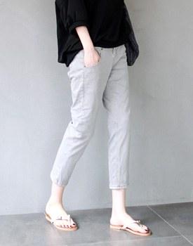 Nicole 7bu gray jean