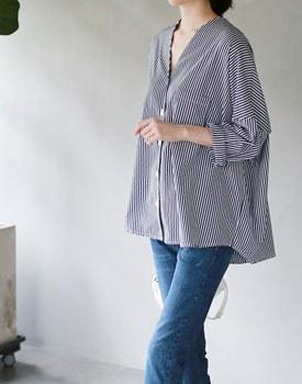 Ales stripe jacket & shirt