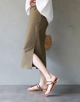 Jade linen skirt - 2c