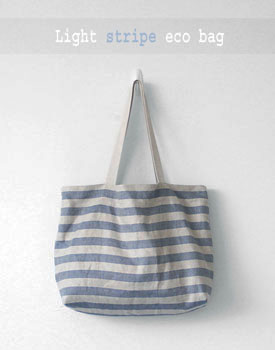 Light stripe eco bag