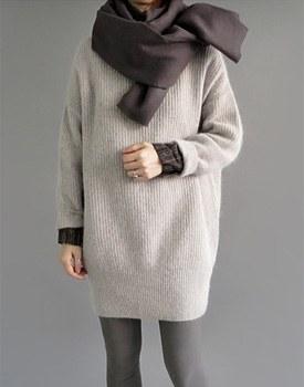 sys angora long knit